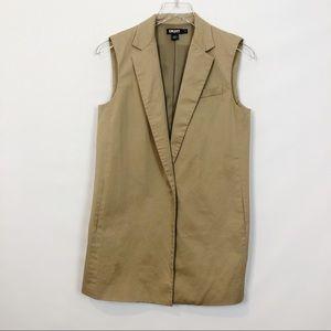 DKNY Tan Cotton Sleeveless Vest Small